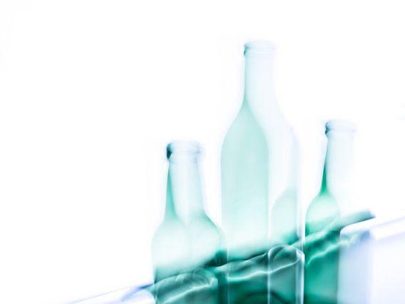 Stilleven met 3 flessen van Henriette Mosselman