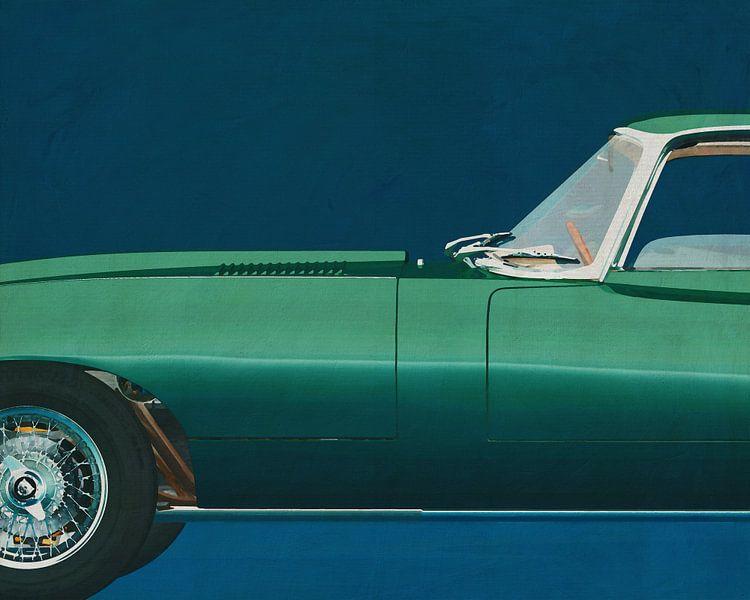 Jaguar E-Type 1960 van Jan Keteleer