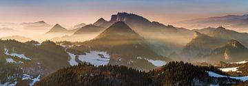 Pieniny foggy panorama von Wojciech Kruczynski