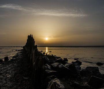 Sonnenaufgang am Wattenmeer von Paul Grefte