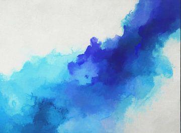 Blaue flüssige Tinte von Angel Estevez