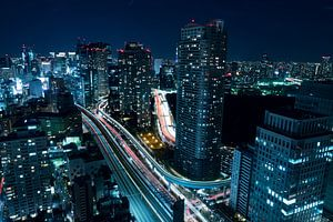 Stad in het donker