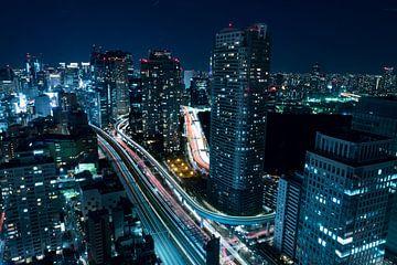 Stad in het donker van