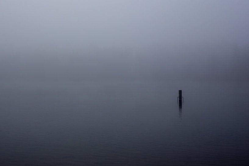 Mist over de Rijkerswoerdse Plassen van Robert Wiggers
