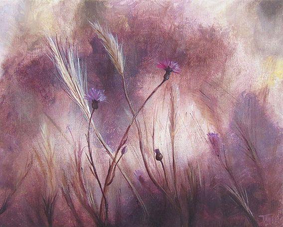 "Impressionistisch schilderij ""Kardoen & Vaste Dravik"" van Tanja Udelhofen"