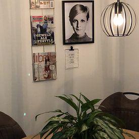 Photo de nos clients: Le modèle Twiggy, 1966 (photo n/b) sur Bridgeman Images, sur poster