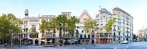 Barcelona | Passeig de Gracia Panorama van Panorama Streetline