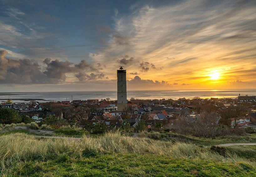 Uitzicht op West -Terschelling van Marjolein van Roosmalen