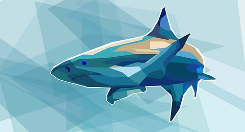 Haai Pop Art Schilderij Killer Shark van Kunst Company