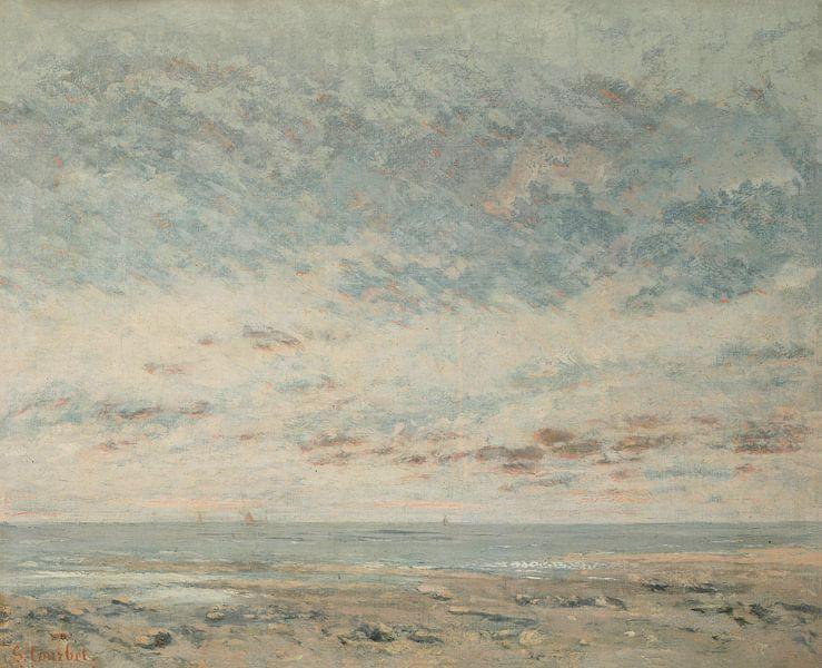 Laagwater in Trouville, Gustave Courbet van Meesterlijcke Meesters