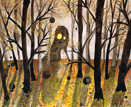 Monster in het woud