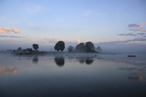 Veerpont op de rivier de Lek