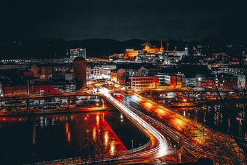 Passau bij nacht van Thilo Wagner