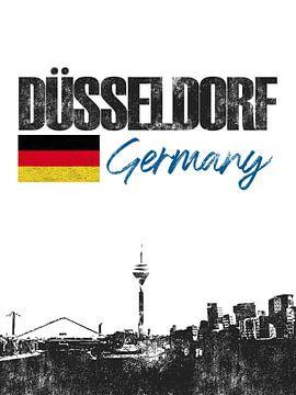 Düsseldorf Allemagne sur Printed Artings