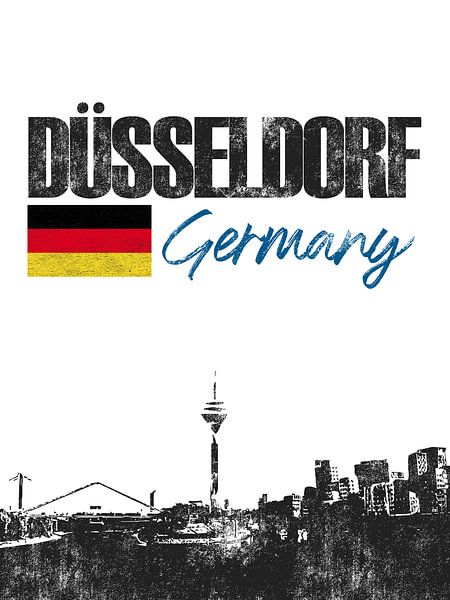 Düsseldorf Duitsland van Printed Artings