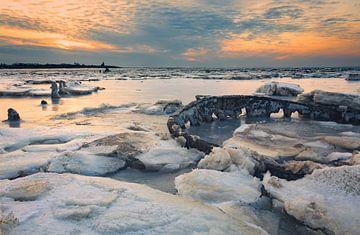 gefrorenes Wattenmeer von Peter Bolman