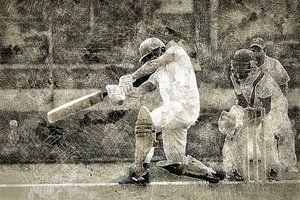 Cricket Sport Art Batter HCC Den Haag