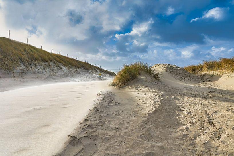 strandopgang bij een storm van eric van der eijk