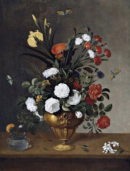 Florero y recipiente de cristal, Pedro de Campróbin van Meesterlijcke Meesters