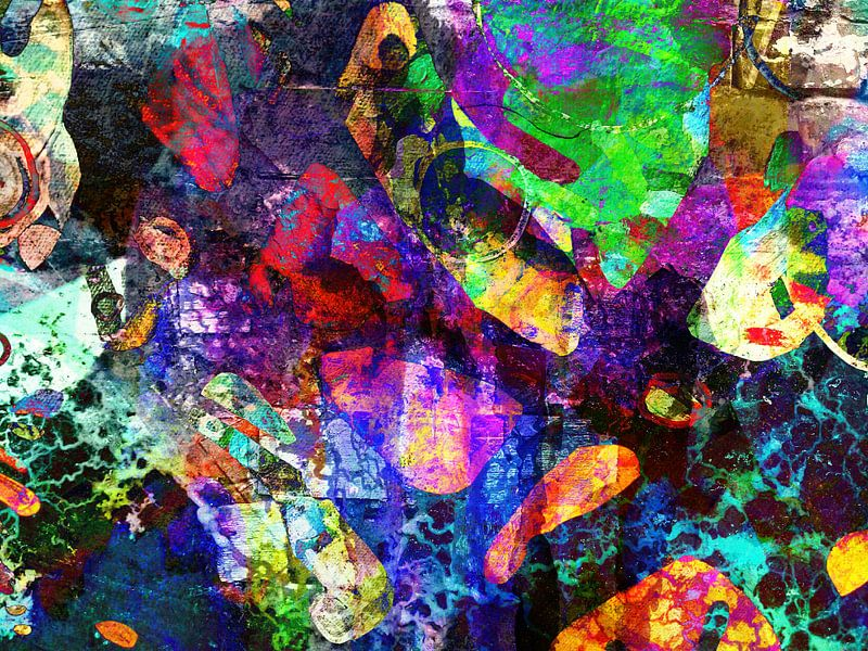 Modern, Abstract kunstwerk - When Thunder Roars van Art By Dominic