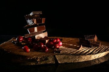 Chocolade met cranberries van Diana van Geel