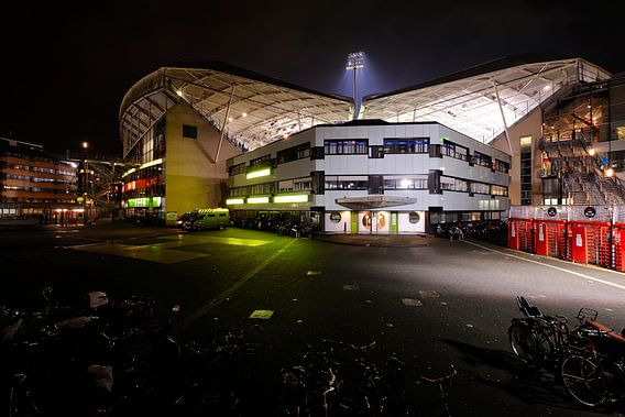 Westzijde Stadion Galgenwaard in Utrecht van Donker Utrecht