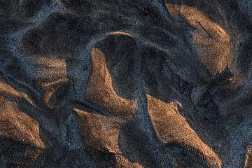 Vulkansand im Abendlicht auf Lanzarote von Harrie Muis