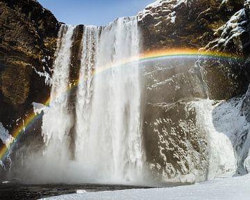 IJsland, Skógafoss van Sander Spreeuwenberg