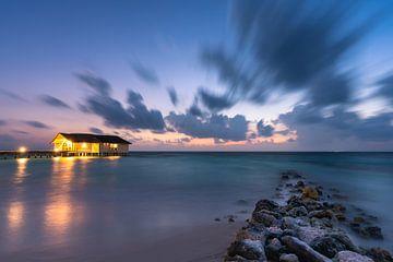 Den Wellenbrecher entlang zum Sonnenaufgang von Christian Klös