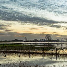 Verdronken land bij Heusden (Nederland, panorama) van 2BHAPPY4EVER.com photography & digital art