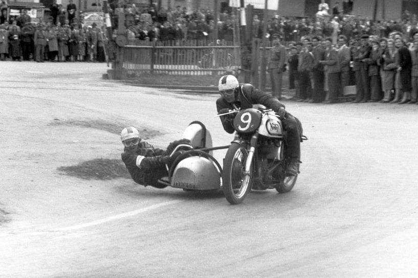 1952 - Norton zijspan racer van Timeview Vintage Images
