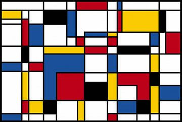 Composition II Piet Mondrian sur Marion Tenbergen
