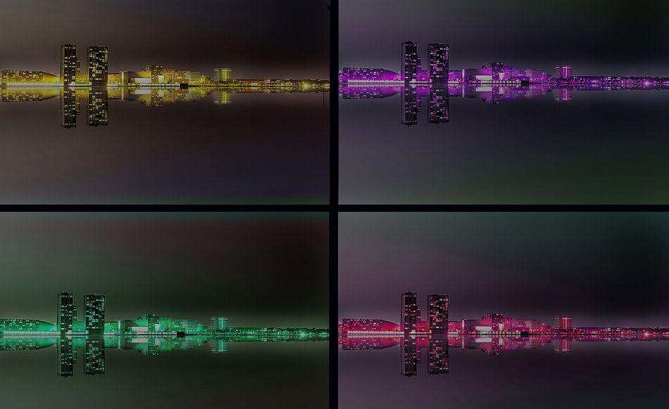Quadro Skyline Almere van Brian Morgan