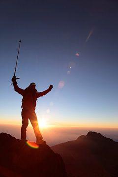 Bergsteiger am Kilimanjaro von