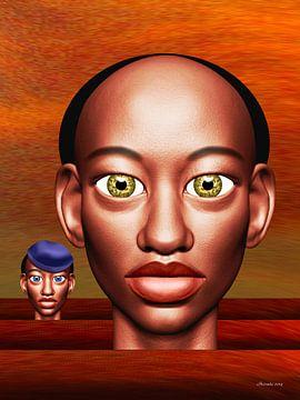 Afrikanische Farben von Ton van Hummel (Alias HUVANTO)