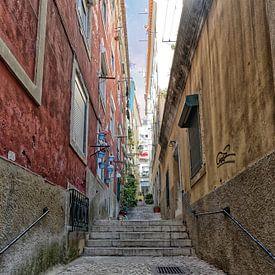 Lissabon stadscentrum. van Tilly Meijer