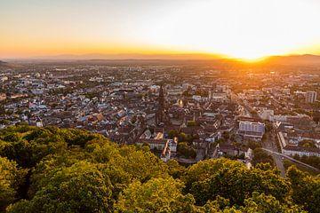 Freiburg im Breisgau bei Sonnenuntergang von Werner Dieterich