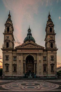 St. Stephen's Basiliek Boedapest. Een kerk in Hongarije in de ochtend in de hoofdstad van Jan Wehnert