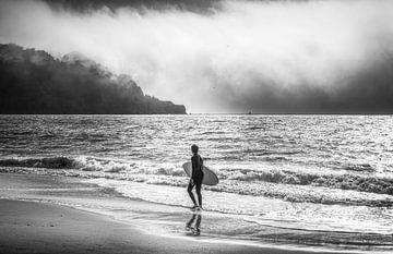 Golden Gate Surfer von Joris Pannemans - Loris Photography