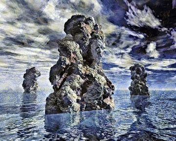 Digitale kunst - Zee van Rotsen van Alexandra Kleist
