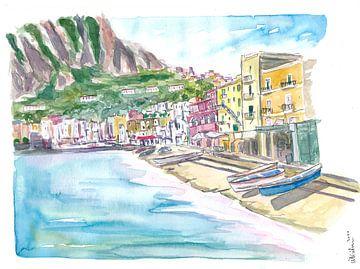 Marina Grande Capri ruhiger Morgen mit Booten und Waterfront von Markus Bleichner