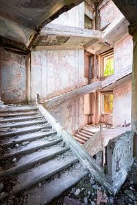 Grandiose verlassene Treppe.