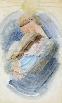 Umarmung II, Oskar Schlemmer, 1942 von Atelier Liesjes