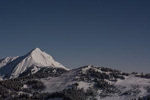 Bergen in wintersportgebied van