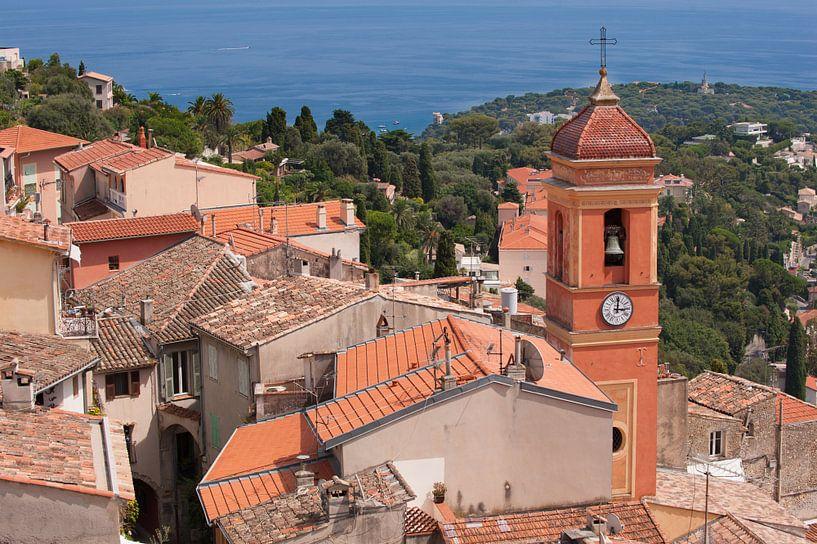 A Church on a mountain near Monaco van Brian Morgan
