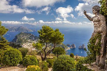 Monte Solaro met standbeeld van Augustus, Anacapri, Capri van Christian Müringer