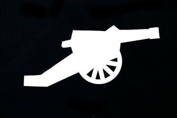 Symbol einer altmodischen Kanone von Patrick Verhoef