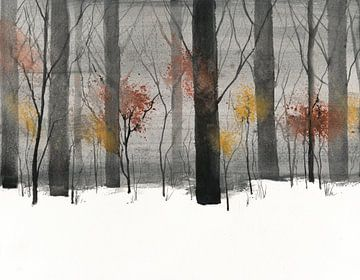 Bäume im Schnee von Jitka Krause