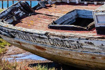 Scheepswrak Ria  Formosa Olhão Algarve Portugal van Mario Brussé Fotografie