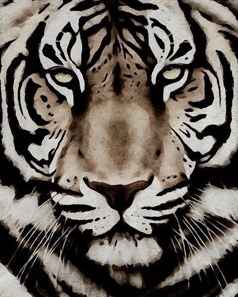 Portret van een tijger van Jan Keteleer